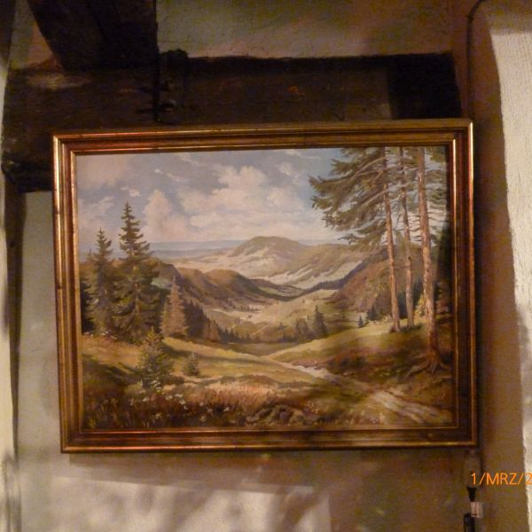 Ölbild Landschaft